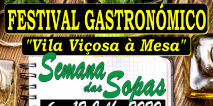 """Festival Gastronómico """"Vila Viçosa à Mesa"""" – Semana das Sopas 2020"""