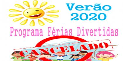 Suspensão do Programa de Ocupação de Tempos Livres – Férias de Verão 2020