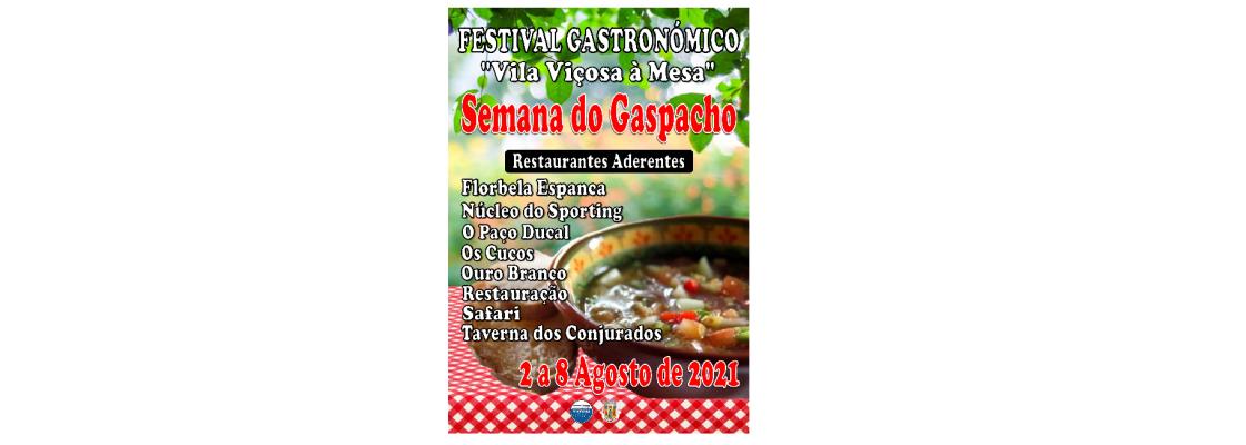 """Festival Gastronómico – """"Vila Viçosa à Mesa"""" Semana do Gaspacho 2021"""