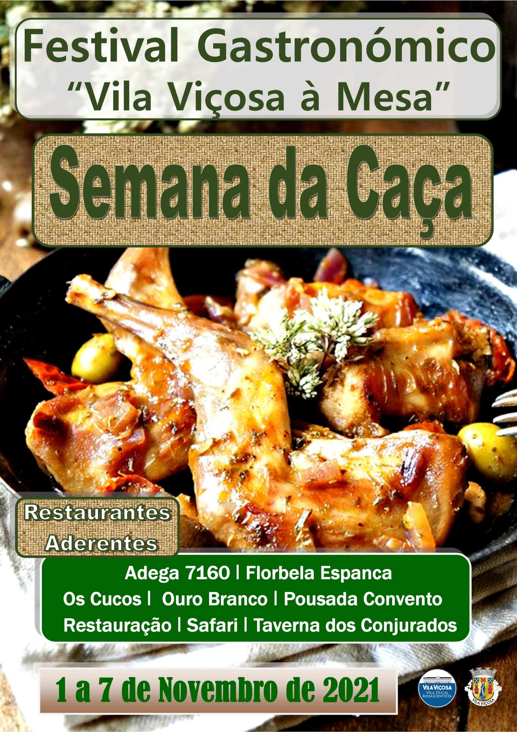 """Semana da Caça – Festival Gastronómico """"Vila Viçosa à Mesa"""" 2021"""